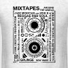 Genres of a mixtape - Fontart Audio cassette  - Men's T-Shirt