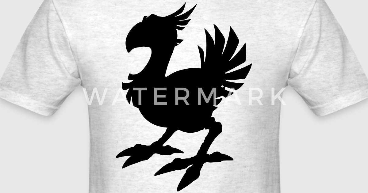 Line Art Rooster : Chocobo silhouette by azza1070 spreadshirt