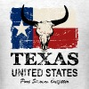 Texas Bull Flag - Vintage Look - Men's T-Shirt