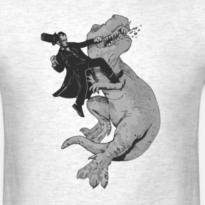 Punching a T-Rex like a boss