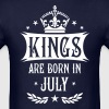18 Kings are born in July King Happy Birthday - Men's T-Shirt