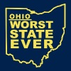 OHIO WORST STATE EVER - Men's T-Shirt