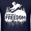 Snowmobile Freedom - Men's T-Shirt