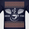 Damn Fine Coffee Ugly Christmas Sweater - Men's T-Shirt