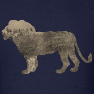 Silhouette Jungle Series Lion - Men's T-Shirt