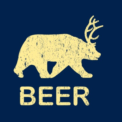 Funny Gym Shirt - Beer Bear Deer Vintage T-Shirt