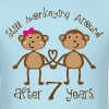 Funny 7th Anniversary Gift Couples - Men's T-Shirt