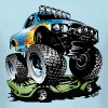 Monster Race Truck - Men's T-Shirt