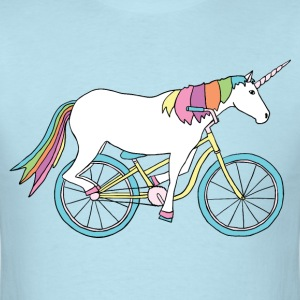 unicorn riding bike