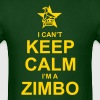 I Can't Keep Calm, I'm A Zimbo - Men's T-Shirt
