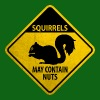 Warning: Squirrels - may contain nuts (grunge/PNG) - Men's T-Shirt