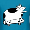 Meow meow cow on aMeow meow cow skateboard - Men's T-Shirt