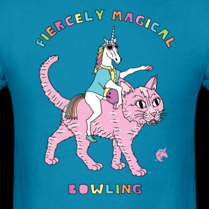 Fiercely Magical Bowling Unicorn Riding Cat