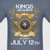 Kings Are Born In July 12th - Men's T-Shirt