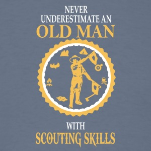 Old Man With Scouting Skills T Shirt - Men's T-Shirt