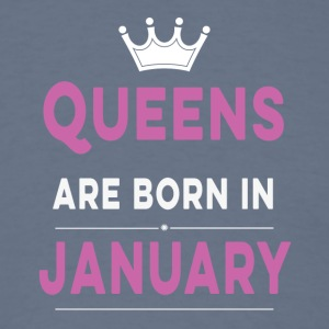Queens are born in january - Men's T-Shirt