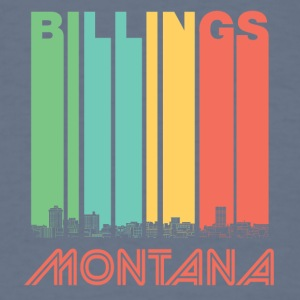 Retro Billings Montana Skyline - Men's T-Shirt