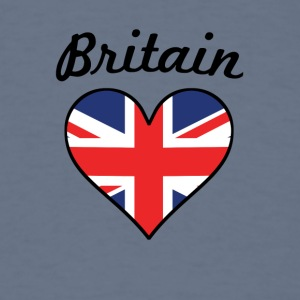 Britain Flag Heart - Men's T-Shirt