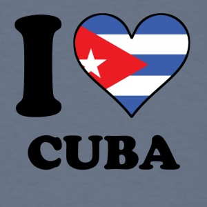 I Love Cuba Cuban Flag Heart - Men's T-Shirt