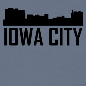 Iowa City Iowa City Skyline - Men's T-Shirt
