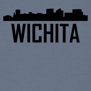 Wichita Kansas City Skyline - Men's T-Shirt