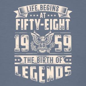 Life Begins At Fifty Eight Tshirt - Men's T-Shirt