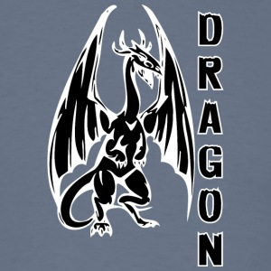 Dragon_with_long_wings_black - Men's T-Shirt