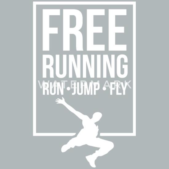 Parkour Climbing Free Running Swinging Jumping Urban Mens Cotton T Shirt