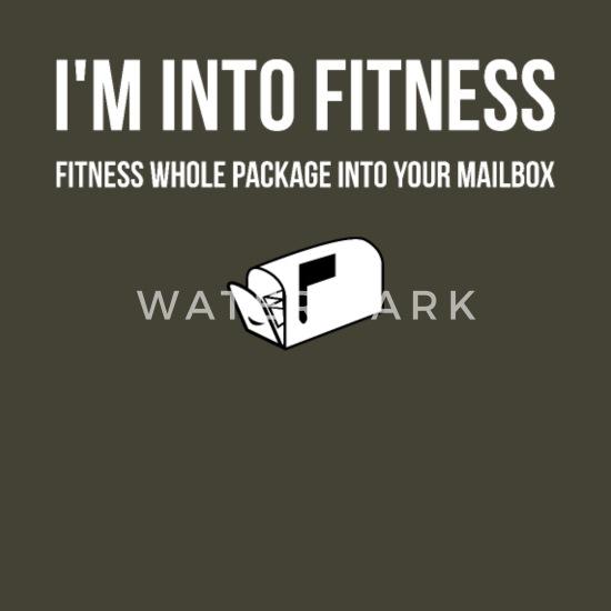 I M Into Fitness Humor Funny Postal Worker Mailman Men S T Shirt