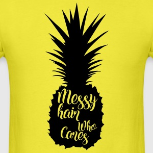 Messy hair who cares, pineapple silhouette - Men's T-Shirt