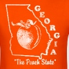 Georgia, the peach state vintage design - Dark Background - Men's T-Shirt