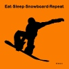 Eat Sleep Snowboard Repeat - Men's T-Shirt