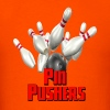 Bowling Team Pin Pushers - Men's T-Shirt