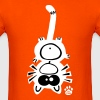 Catpaw Design Cat Sports Fun Comic Kitty Cool - Men's T-Shirt