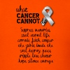 What cancer cannot do - leukemia cancer - Men's T-Shirt