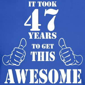 47th Birthday Get Awesome T Shirt Made in 1970 - Men's Long Sleeve T-Shirt