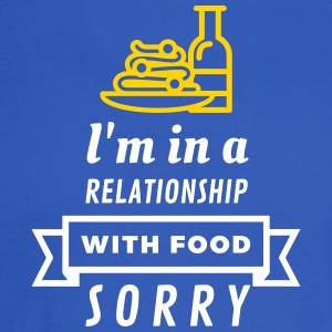 I Am In A Relationship With Food - Men's Long Sleeve T-Shirt