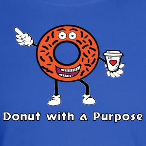 Donut with a Purpose White Ink - Men's Long Sleeve T-Shirt