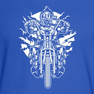 Gasmask Chopper. The Nasty Biker! - Men's Long Sleeve T-Shirt