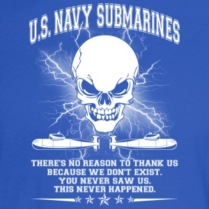 U S NAVY SUBMARINES SHIRT - Men's Long Sleeve T-Shirt