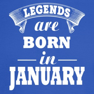 Legends are born in JANUARY - Men's Long Sleeve T-Shirt