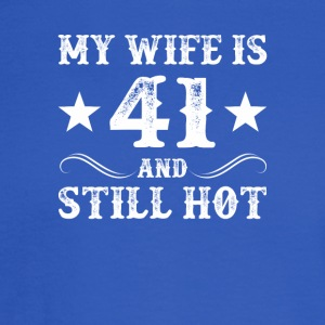 My Wife Is 41 Still Hot 41 Year Old Wife - Men's Long Sleeve T-Shirt