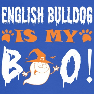 English Bulldog Is My Boo Happy Halloween - Men's Long Sleeve T-Shirt