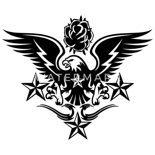 Eagleroseand Nautical Star Lightning Tattoo Mens Longsleeve Shirt