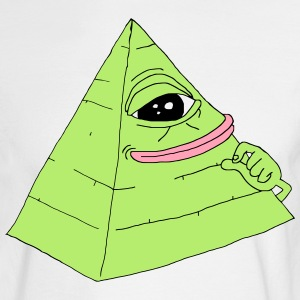 Pyramid Pepe the Frog - Men's Long Sleeve T-Shirt