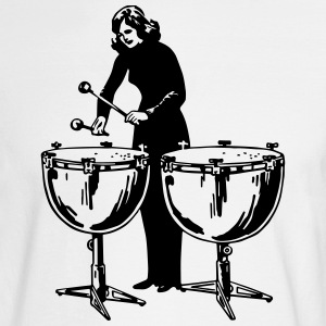 drumming girl - Men's Long Sleeve T-Shirt