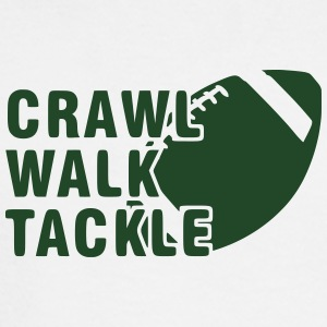 Crawl, Walk, Tackle - Men's Long Sleeve T-Shirt