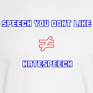 Free Speech includes Hatespeech - Men's Long Sleeve T-Shirt