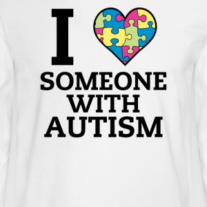 I Love Someone With Autism - Men's Long Sleeve T-Shirt