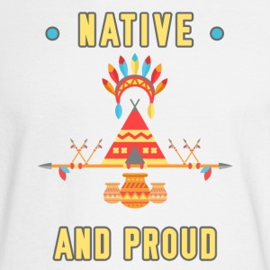 Native and Proud Bright Happy Men Women Youth Tee - Men's Long Sleeve T-Shirt